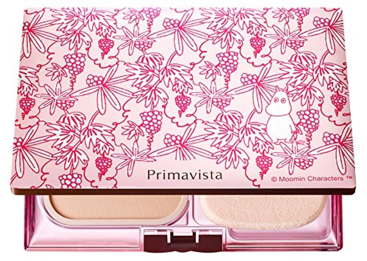 手入れキリン日の出ソフィーナ プリマヴィスタ きれいな素肌質感パウダーファンデーション(オークル05)+限定ムーミンデザインコンパクト 企画品