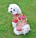 Awesomes 犬服 秋 冬 防寒コート 着物 和服 優雅 かわいい お正月 お祭り 結婚式 パーティー (M)