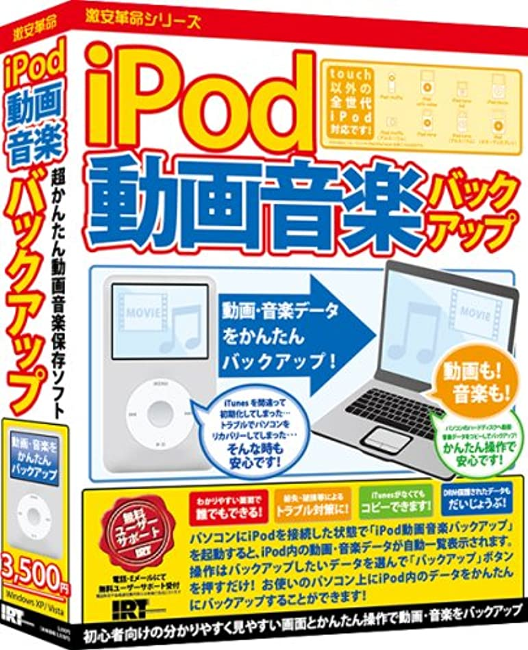 iPod動画音楽バックアップ