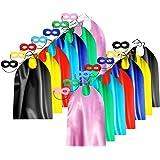 Adult Superhero Capes and Masks Bulk Pack for Men & Women - Dress Up Superhero Party Costumes for Team Building - 14 Sets