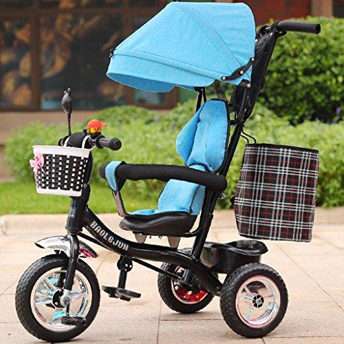 多機能子供の三輪車ベビートロリー1-6歳の幼児の自転車取り外...