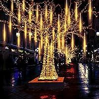 Retvi 流星雨ライト ツリーストリングライト ガーデンライト 屋外 防水仕様 LED 流星雨 装飾品 クリスマス フェスティバル ロマンチック 雰囲気作り 省エネ イルミネーション 祝日 装飾用 10本セット