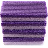 Foot Pumice Stone Sponge Block 4 Pack Premium Foot File and Scrubber 2 in 1 Callus Remover for Feet Hands and Body, Perfect Pedicure Beauty Tools for Exfoliation to Remove Dead Skin (Purple)