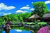 1000ピース ジグソーパズル 脳力診断パズル 富士山と忍野村-山梨 (50x75cm)