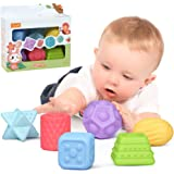 TUMAMA 6 Packs Sensory Balls for Baby Massage Stress Relief, Textured Multi Ball Gift Sets,Water Bath Toys, Toy for Kids, Tod