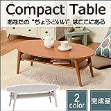 日用品 完成品 楕円 折れ脚テーブル 丸テーブル 折畳 机 ナチュラル