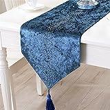 シンプル 現代 欧風 テーブルランナー ブルー 32x200cm