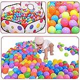 Ball Pit Balls 100パックカラフルなBPAフリーCrush Proof withメッシュバッグfor Toddlers Baby Playpen再生テント家Swim Pool Toys