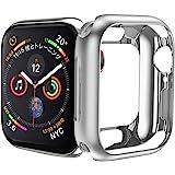 HOCO コンパチブル Apple Watch Series6/SE/5/4 ケース アップルウォッチ カバー 44mm メッキ TPU ケース 耐衝撃性 超簿 脱着簡単 アップルウォッチ 保護ケース(シルバー/44mm)