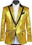 [K sera sera] ステージ衣装 スパンコール ジャケット メンズ キラキラ 忘年会 司会 結婚式 スパンコール コント ハロウィン パーティー テーラードジャケット 蝶ネクタイ パンツ 3点セット