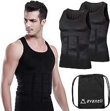 [avaneli]加圧シャツ メンズ 加圧インナー 肩こり矯正 シャツ【タンクトップ2枚組】