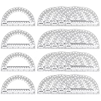 eBoot 24 Pack Plastic Protractors Clear Math Protractor 180 Degrees 6 Inches 【Creative Arts】 [並行輸入品]
