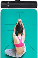 Yoga Mat Fitness Mat Eco Friendly Material SGS Certified Ingredients TPE Specifications 72'' x 24'' Thickness 1/4-Inch...