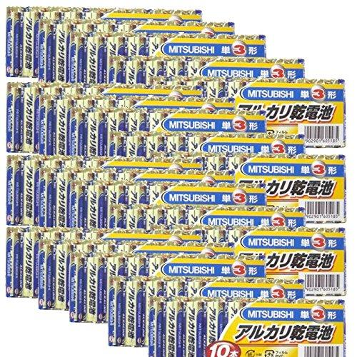 アルカリ乾電池 単3形 10本パック MITSUBISHI 三菱電機ホーム機器株式会社