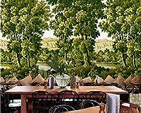 Bzbhart カスタム壁紙ヨーロッパレトロ手描きの熱帯雨林ジャングル壁画テレビ背景家の装飾壁画3d壁紙-350cmx245cm