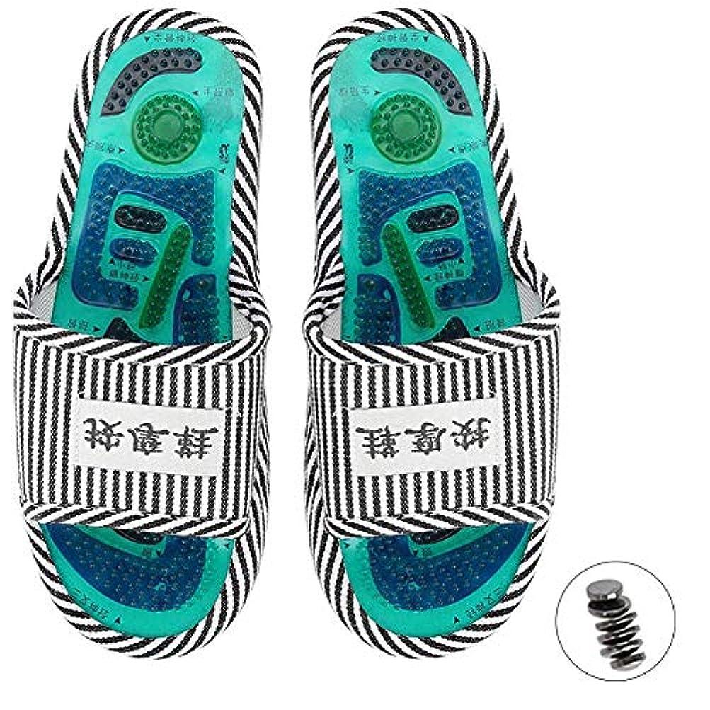 経済反対するパターンマッサージスリッパ、足指圧マッサージ 磁気ストーン 健康な足のケア マッサージボール 男性女性用(1)