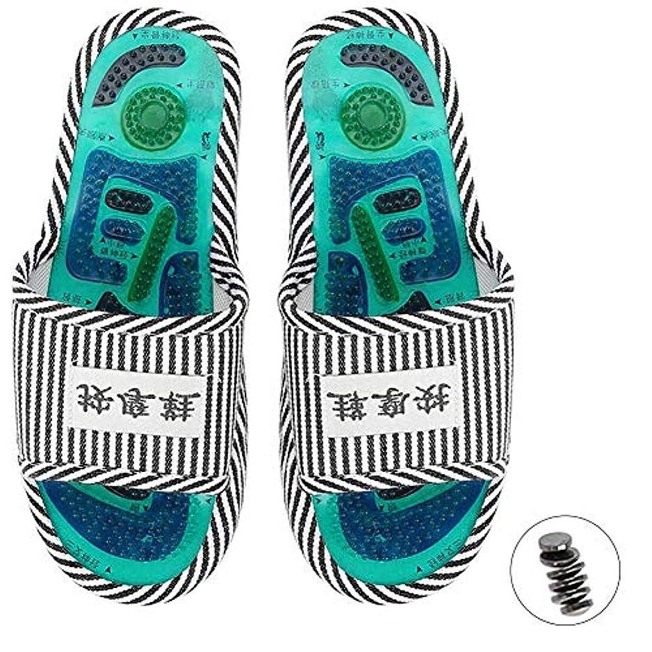 ブレス魅力的マーキーマッサージスリッパ、足指圧マッサージ 磁気ストーン 健康な足のケア マッサージボール 男性女性用(1)