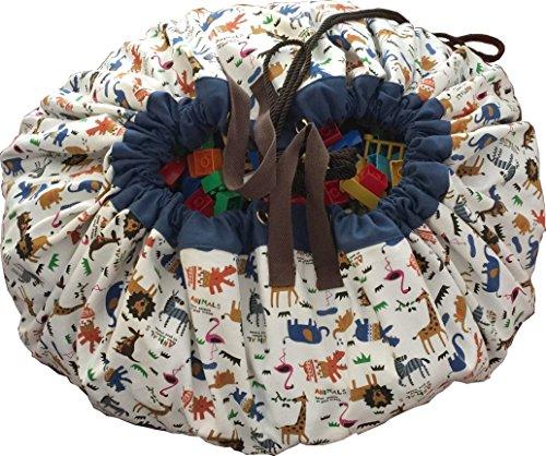 おもちゃ収納 FROSIKI For Toys【アニマルズ】/プレイマット/収納袋 おもちゃが10秒で片付く 素材:綿100% 150㎝