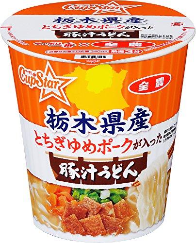 サッポロ一番×全農 カップスター 栃木県産とちぎゆめポークが入った 豚汁うどん 64g×12個