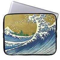 Recaso(レカソ)着色された大きい波ファッション 17/17.3/17.4インチノートPCスリーブ ネオプレン製 男女兼用 タブレット・ラップトップ インナーバッグ