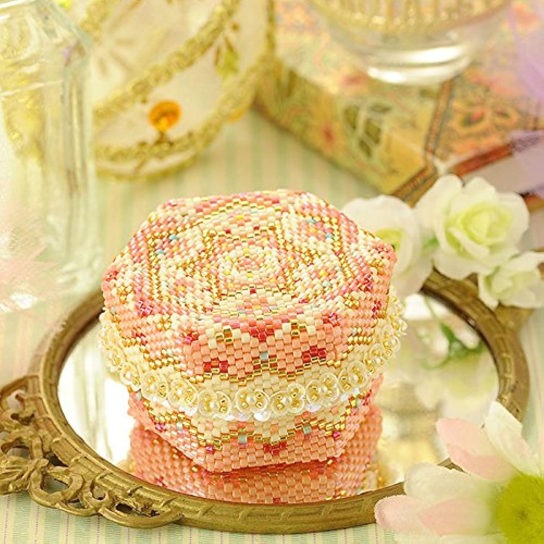 ステッチボックス~手毬箱?桜~ 【ビーズマニア】