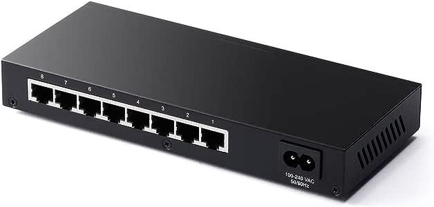 サンワダイレクト スイッチングハブ LANハブ メタルケース 電源内蔵 静音 ストレート・クロスケーブル対応 10/100Mbps/1Gbps対応 8ポート 500-SWH008