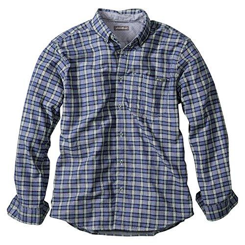 (エディー・バウアー) Eddie Bauer 長袖ツリーラインダブルクロスパターンボタンダウンシャツ(アトランティック M)