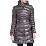 Fulision Women's Quilted Jacket Mid-Length Outerwear Shiny Warm Winter Hooded Cotton Coat