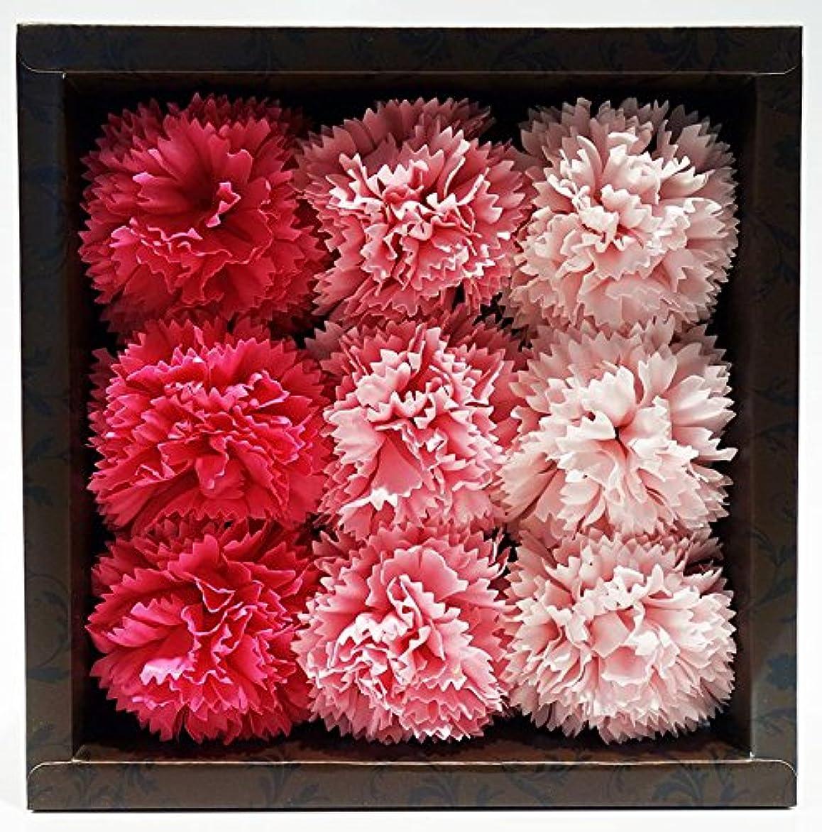 アパートドライバ脳バスフレグランス バスフラワー カーネーション ピンクカラー お花の形の入浴剤 母の日 プレゼント ギフト