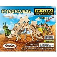 Puzzled Stegosaurus Dinosaur 3D Woodcraft Construction Kit by Puzzled [並行輸入品]