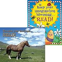Barker Creek Celebrate Reading Motivationalチャートセット( ll-518)
