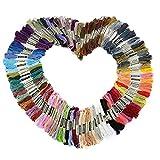 LIHAO 刺しゅう糸 刺繍系 ミサンガ 100本98色カラー豊富 まとめ買い 色分け タッセル