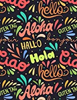 Notebook: Aloha Cover (8.5 X 11) Inches 110 Pages, Blank Unlined Paper for Sketching, Drawing, Whiting, Journaling & Doodling