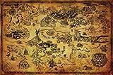 ゼルダの伝説 - ハイラルMAP地図ポスター(61x91cm)NEW壁の芸術 [並行輸入品]