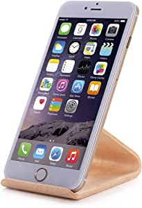 SAMDi iPhoneスタンド 木製 ナチュラルブラウン SMD-SS-WHT