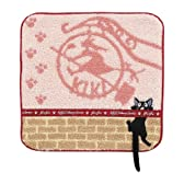 KIKI'S DeliveryService 魔女の宅急便 ジジ リボンと黒猫(リボンテープ付刺繍) ミニタオル 590394