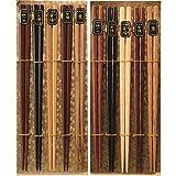 ナガオ 天然木 六角箸&ひねり箸 22.5cm 10膳セット