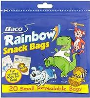 Baco Rainbow Snack Bags (20 per pack) のbaco虹のスナック袋(パックあたり20 )