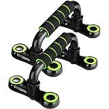 JUZFIT プッシュアップバー 腕立て伏せ 腹筋器具 筋肉トレーニング 2個セット