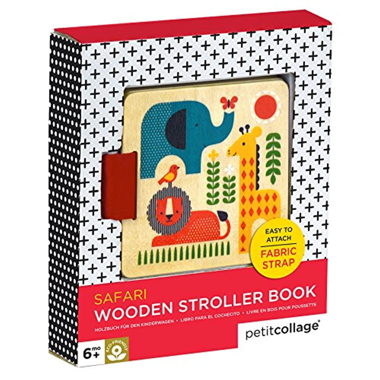 寮揮発性地図Safari Wood Stroller Book