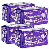 ナチュラムーン(NaturaMoon) 生理用ナプキン 多い日の夜用(羽つき) 10個入 ×4パックセット 高分子吸収剤不使用 ノンポリマー 使い捨て布ナプキン