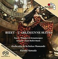 Bizet; Gounod; Faure: Arlesienne Suites 1, and 2; Ballet Music; Masques Et Bergamasques by Orchestre De La Suisse Romande (2013-11-19)