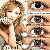 loveilラヴェール30枚入【カラー】ブラウンミラージュ【PWR】±0.00【DIA】14.21day