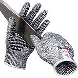 Golovejoy作業手袋料理用切れない手袋 女性と子供の安全のため ワーク 作業用耐切創強いスリップ機能の防刃グローブ(S) [並行輸入品]