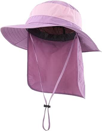 (コネクタイル)Connectyle アウトドア ユニセックス UPF50+ メッシュ サファリハット つば広 日焼け防止 農作業 帽子 UVカット ハット