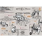 壁紙 輸入壁紙 紙 ドイツ製 スターウォーズ Star Wars Blueprints 8-493 セルノリ&施工道具付き Z3K