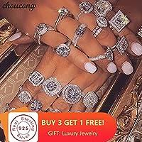 Choucong 40 スタイル 100% 本物の 925 純銀製の婚約指輪 AAAAA cz 婚約のためのウェディングバンドリング女性男性パーティージュエリー