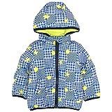 ジャンパー ベビー 赤ちゃん 男の子 フード付 リバーシブル 裏シープボア 中綿コート ブルー-ライム 95cm