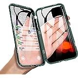 JCGOOD iPhone 11 ケース アイフォン11 ケース 透明 両面 強化 ガラス ケース 360°全面保護 スマホケース アルミ バンパー カバー マグネット式 表面 と 背面 クリア ケース 軽量 薄型 擦り傷防止 耐衝撃 ワイヤレス充電