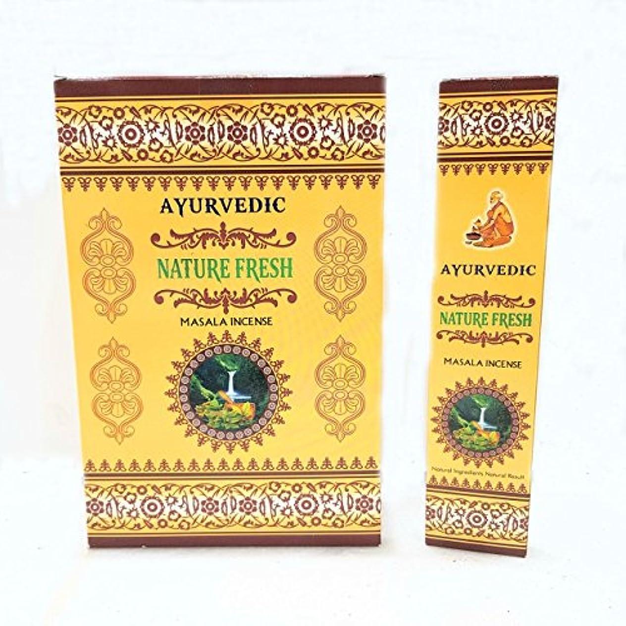 小道海外積分Ayurvedic Nature Fresh Masala Incense Sticks Agarbatti ( 12パックcontaining 15 sticks各)